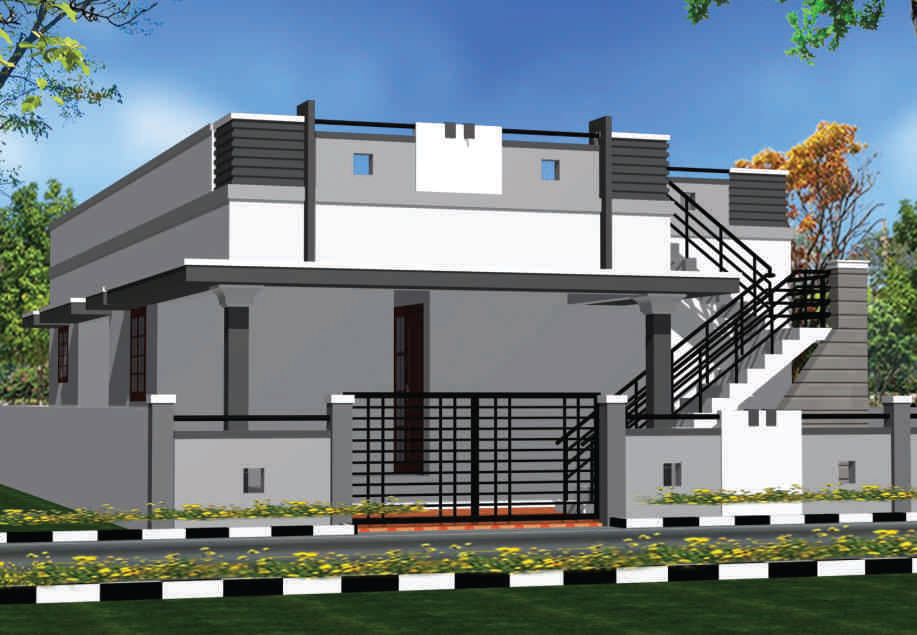 2bhk Bunglow Plan Elevation | Joy Studio Design Gallery - Best Design